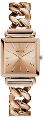 GUESS Analog Curb Chain Rose-Goldtone Bracelet Watch