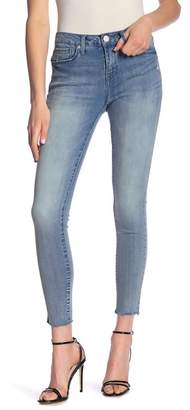 Seven7 Mid Rise Ankle Raw Hem Skinny Jeans