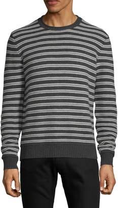 Saks Fifth Avenue Cashmere Crewneck Striped Cashmere Sweater