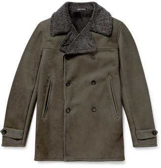 Richard James Double-Breasted Shearling Coat
