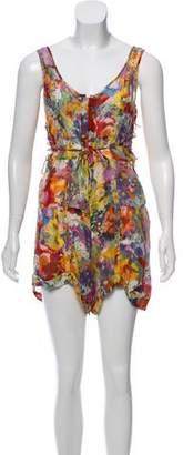 Stella McCartney Sleeveless Floral Print Romper