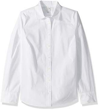 J.Crew Mercantile Women's Stretch Long-Sleeve Solid Shirt