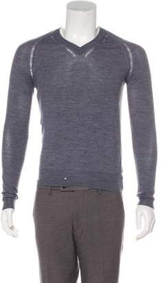 Christian Dior Destroyed Wool V-Neck Sweater