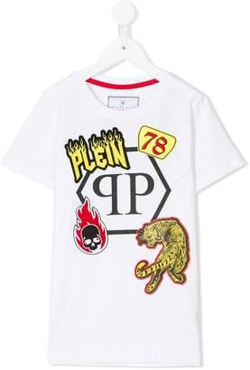 Philipp Plein Junior multiple patches T-shirt