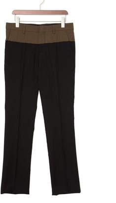 N°21 (ヌメロ ヴェントゥーノ) - N 21 配色切替 センタープレス パンツ ブラック 44