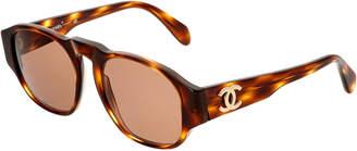Chanel Brown Acrylic Sunglasses