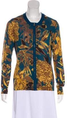 Tory Burch Wool Zip-Up Cardigan