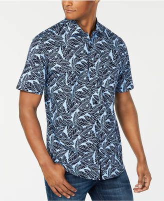 Club Room Men Leaf Print Short Sleeve Shirt
