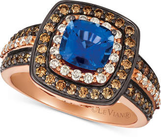 LeVian Le Vian Ceylon Sapphire (1 ct. t.w.) & Diamond (7/8 ct. t.w.) Ring in 14k Rose Gold