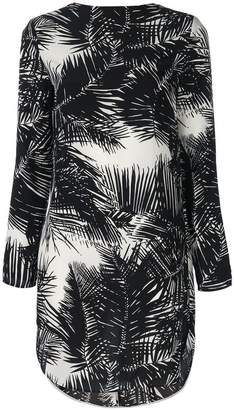 Theory palm print tie back dress