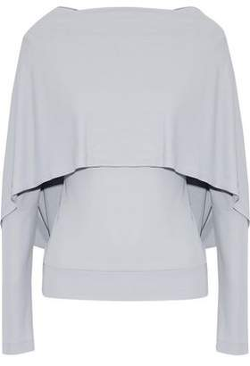 Roland Mouret Cape-Effect Stretch-Knit Top