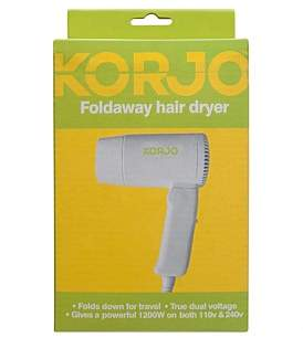 Korjo Hair Dryer Dual Voltage