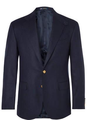 Polo Ralph Lauren Navy Slim-Fit Brushed-Wool Twill Blazer