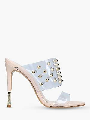 16cd76fd1d1 Ghost Studded Stiletto Heel Sandals, Natural Nude