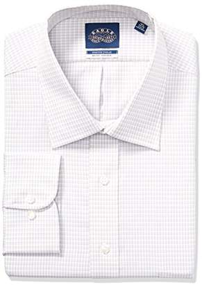 Eagle Men's Dress Shirt Tallstretch Collar Big Fit Check