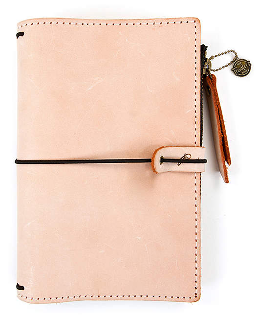 Peach Leather Journal Cover