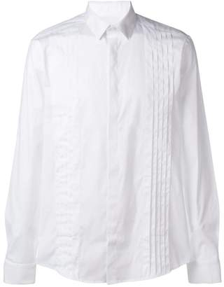 Les Hommes pleated front formal shirt