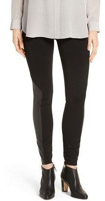 SPANX ® High Waist Perforated Panel Leggings $98 thestylecure.com