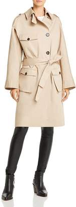 The Kooples Plaid-Back Trench Coat