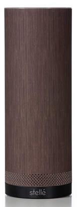 Stelle Audio Audio Pillar Speaker with Amazon Alexa, Wenge