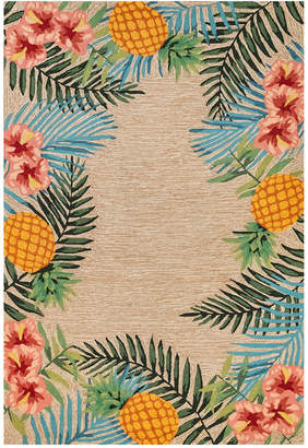 "Liora Manné Liora Manne' Ravella 2280 Tropical Neutral 3'6"" x 5'6"" Indoor/Outdoor Area Rug"