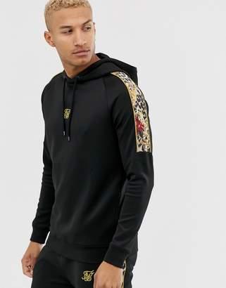 SikSilk x Dani Alves hoodie in black with side stripe