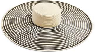 Topshop Oversize Stripe Straw Hat