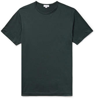 Sunspel Slim-Fit Cotton-Jersey T-Shirt - Dark green