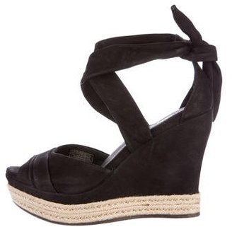 UGG Australia Leather Espadrille Wedges $145 thestylecure.com