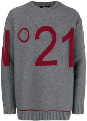No.21 logo knit sweater