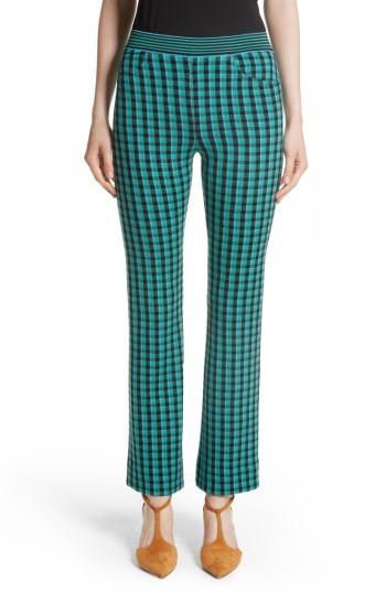Women's Missoni Plaid Stretch Wool Knit Pants