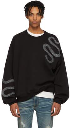 Amiri Black Glitter Snake Sweatshirt