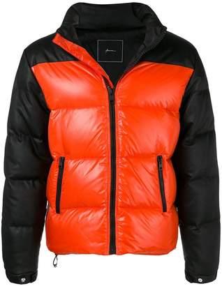 Paura contrast panels padded jacket