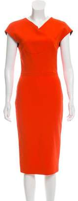 Victoria Beckham Sheath Midi Dress
