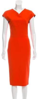Victoria Beckham Sheath Midi Dress