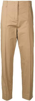 Schumacher Dorothee frayed side stripe trousers