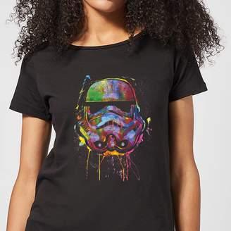 Star Wars Paint Splat Stormtrooper Women's T-Shirt