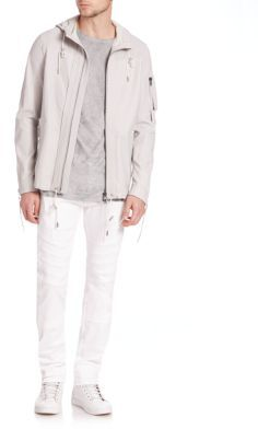 DieselLident Perforated Leather Jacket