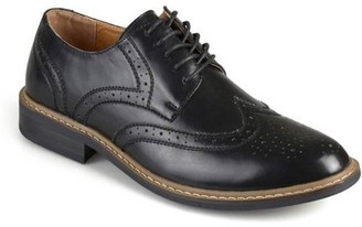Territory Mens Lace-up Faux Leather Oxford Derby Dress Shoes