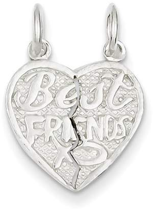 1928 Gold and Watches Sterling Silver Best Friends 2-piece break apart Heart Charm