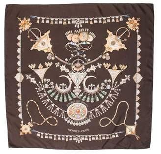Hermes Parures Des Sables Silk Scarf