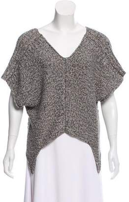 Yigal Azrouel Cut25 by V-Neck Crop Sweater
