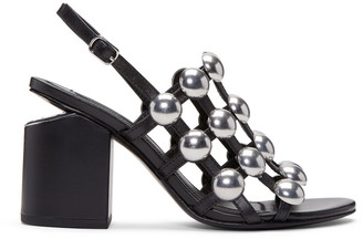 Alexander Wang Black Nadia Sandals $650 thestylecure.com