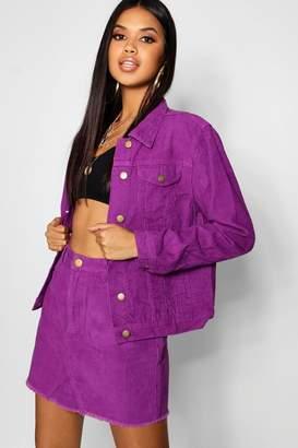 boohoo Cord Purple Denim Jacket