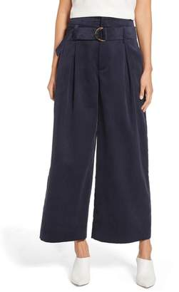 1 STATE 1.STATE Belted Wide Leg Corduroy Pants