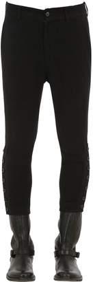 Ann Demeulemeester Linen & Cotton Pants W/ Button Cuffs