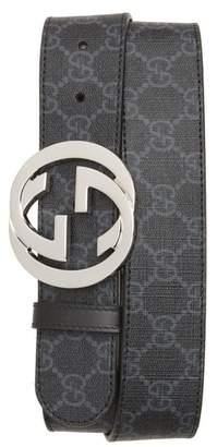 Gucci Logo Buckle Interlocking Belt