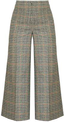 Isabel Marant Trevi high-rise wide-leg cropped trousers