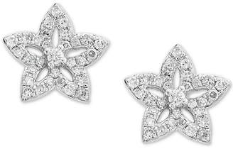 Effy Kidz Children's Diamond Flower Stud Earrings (1/5 ct. t.w.) in 14k White Gold