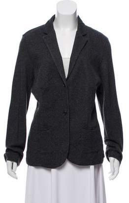 Neiman Marcus Cashmere-Blend Knit Blazer